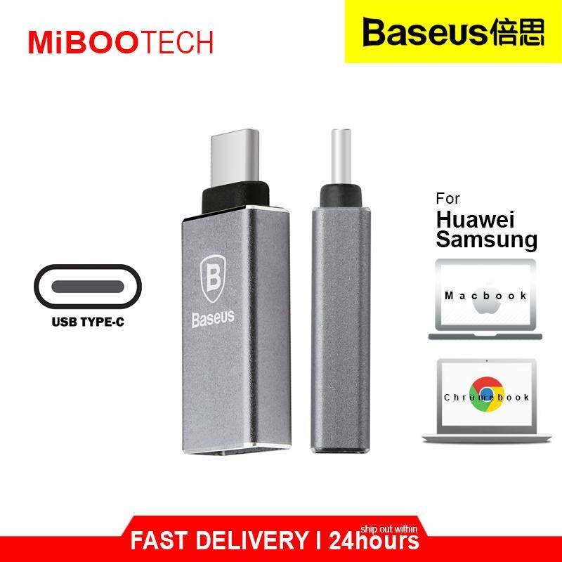 [Miboo] Baseus Sharp Series Type-C Adapter 3.0A Max USB 3.1 Efficient Charging Stability Safety Type-C OTG Born For Huawei Samsung Device & New Macbook Chromebook Long-Lasting  + Anti Scratch Protection Design
