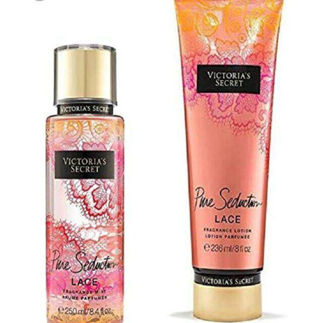 FREE GIFT100% REJECTED PURE SEDUCTION SET LOTION&PERFUME VICTORIAS