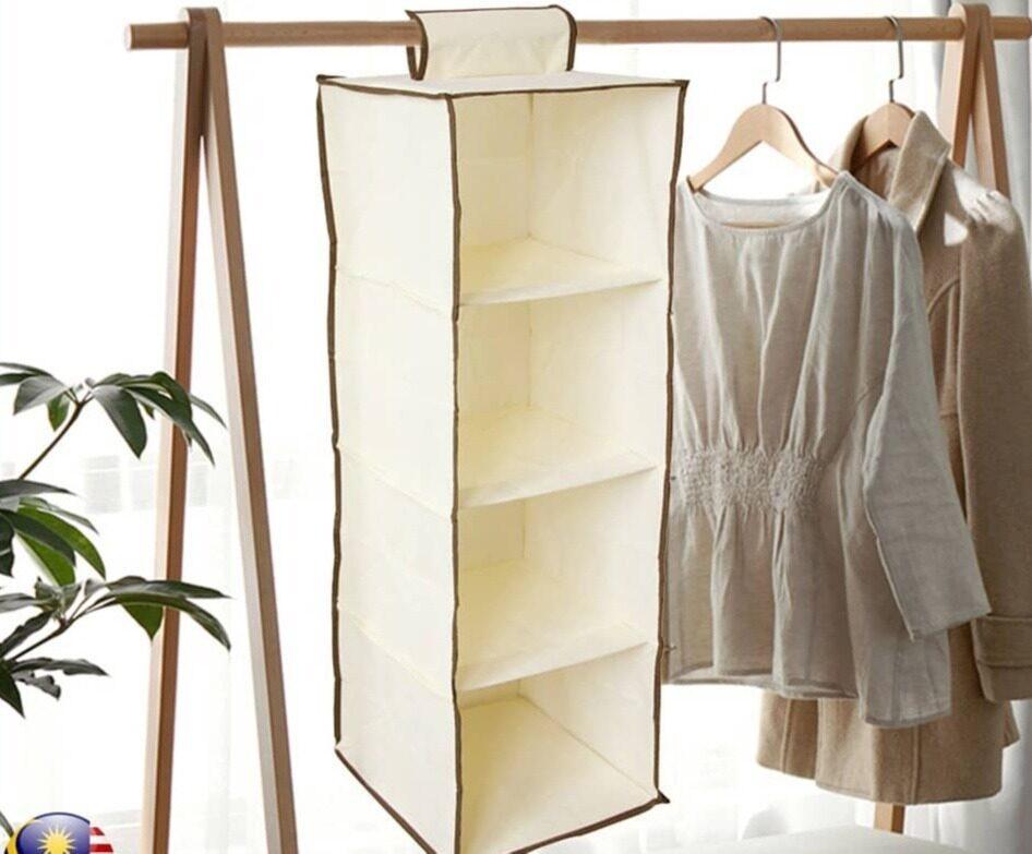 4 Shelf Hanging Closet Organizer Storage Box SKN3403