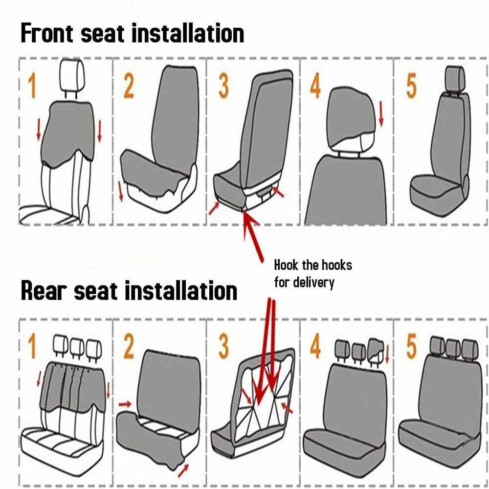 People's Choice 9 Pcs Car Seat Cover Vehicle Protective Cushion Four Seasons Universal Full Surround Headrest Auto Interior Decoration for Most Car Truck Suv Van One Color Two Type (Beige)