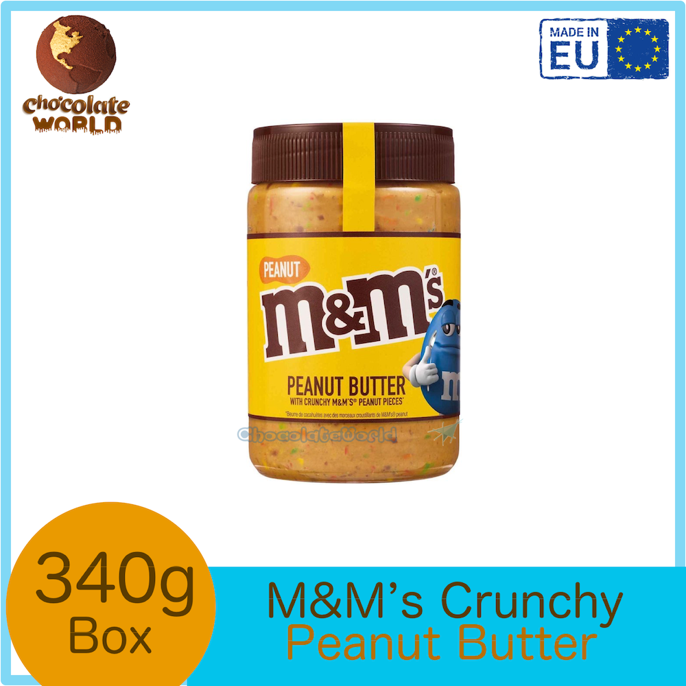 M&M's Peanut Butter with Crunchy M&M's Peanut Pieces Jam Spread 320g (Made in UK)