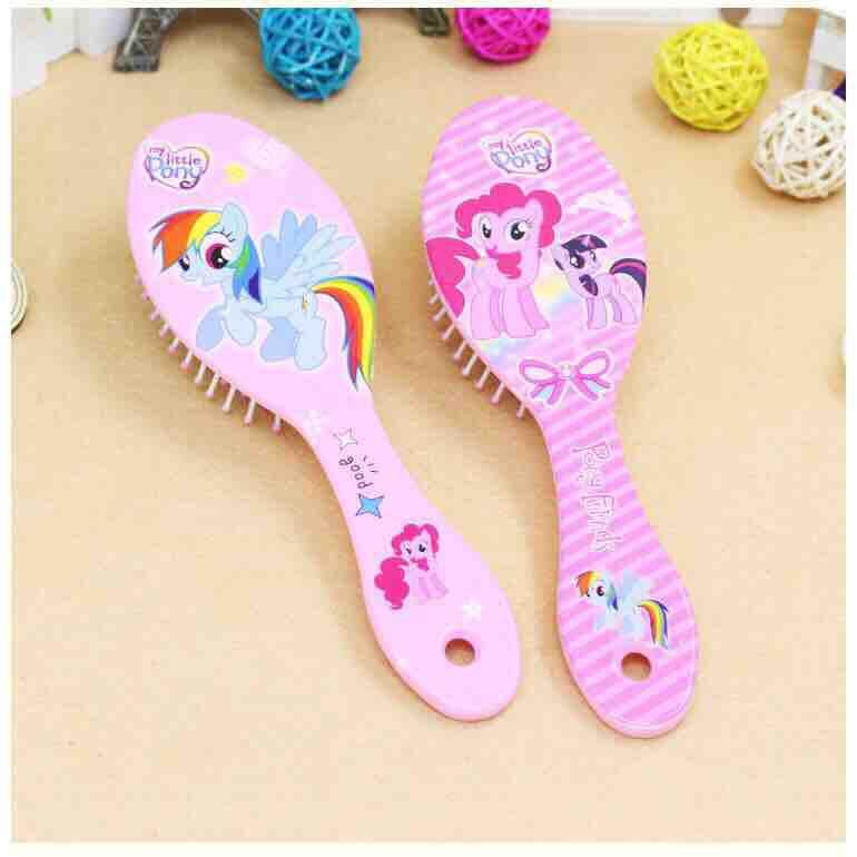 [BUY 1 FREE 1 !!!] Disney Frozen Kids Gentle Anti-static Brush Tangle Bristles Handle Tangle Comb