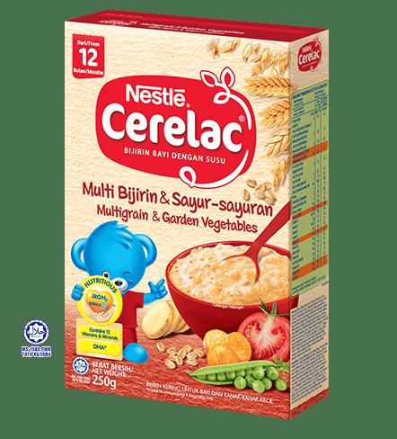 Nestle Cerelac Multi Grain & Garden Vegetables / Multi bijirin sayur-sayuran (12 months or above) 250g (6 months or above) 250g