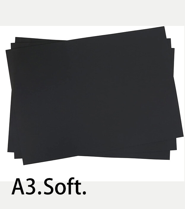 A3 size Non-Glossy Soft Black Art Card Paper (30 sheets)