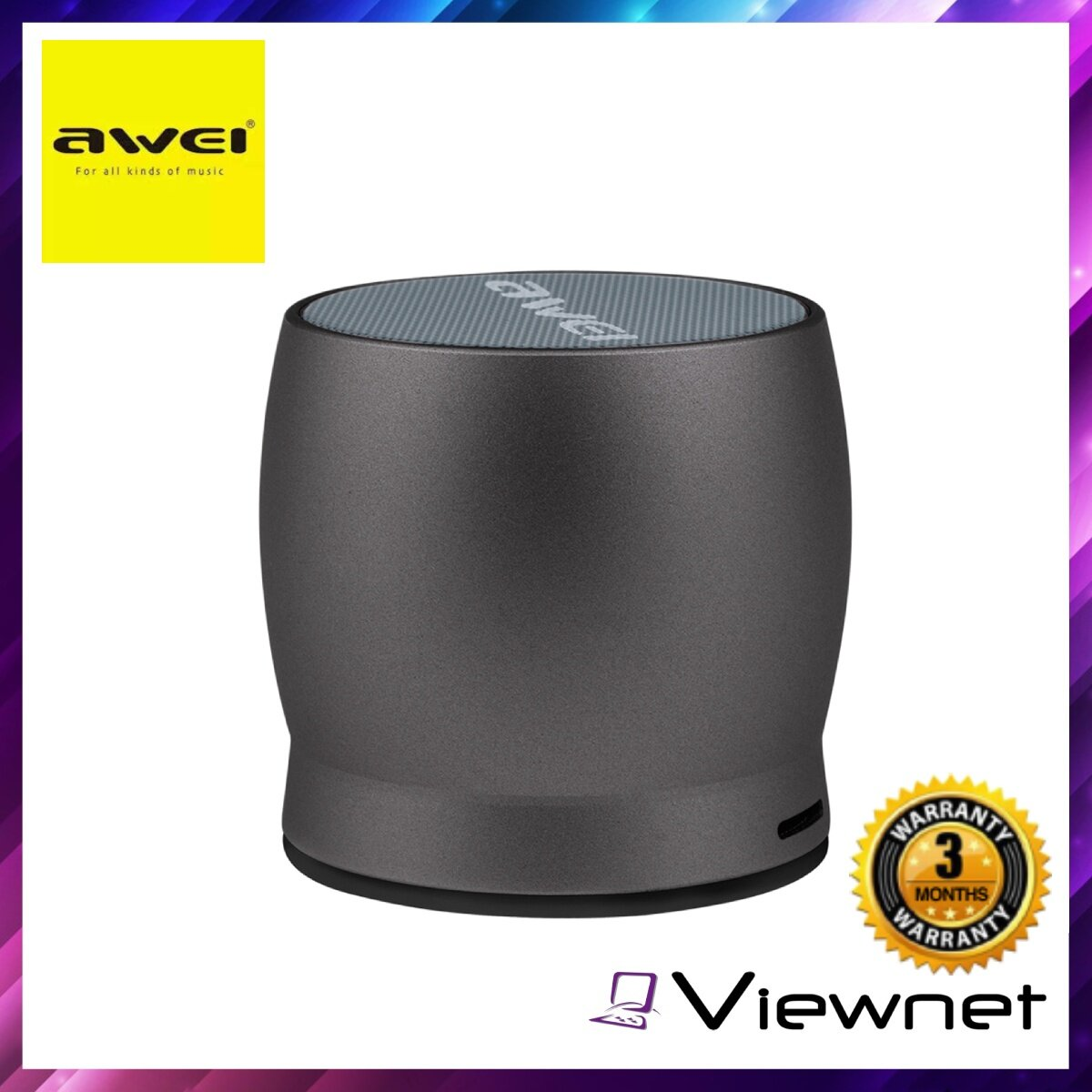 Awei Y500 Portable Wireless Bluetooth Speaker, AUX Card TF, Stereo Portable Mini Louder Speaker