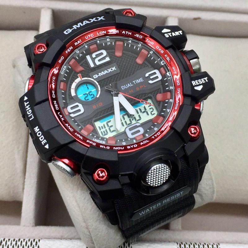 Special Promotion Sport G-MAXX Dual Time Display Fashion Casual Watch For Men Ready Stock 100% Mineral Glass New Design
