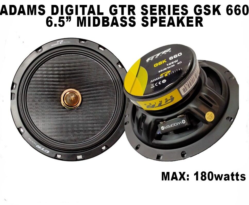 Adams Digital GTR Series GSK 660 6.5 Inch Midbass Speaker Max 180 Watt ( 2 pcs )