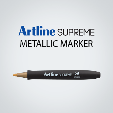Artline EPF-790 SUPREME Metallic Marker (EPF-790) Gold