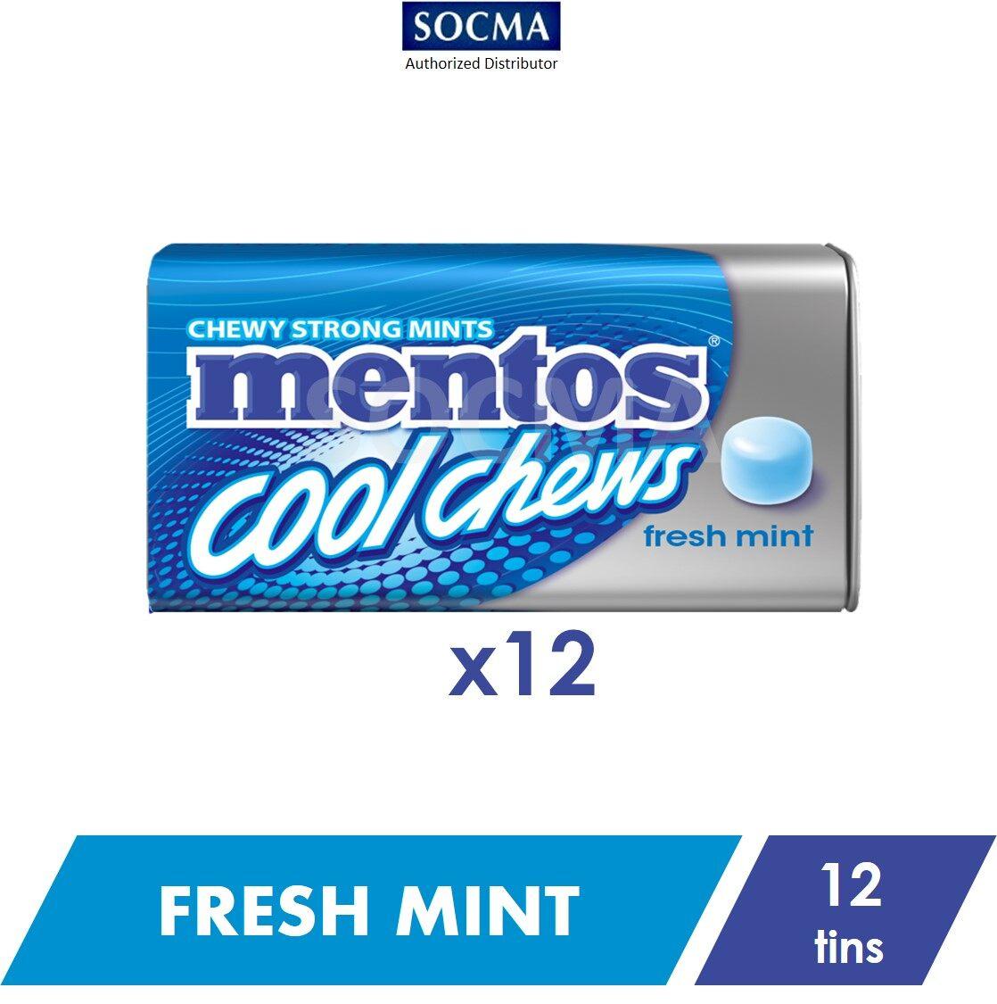 Mentos Cool Chews Tin Fresh Mint 38g [12]