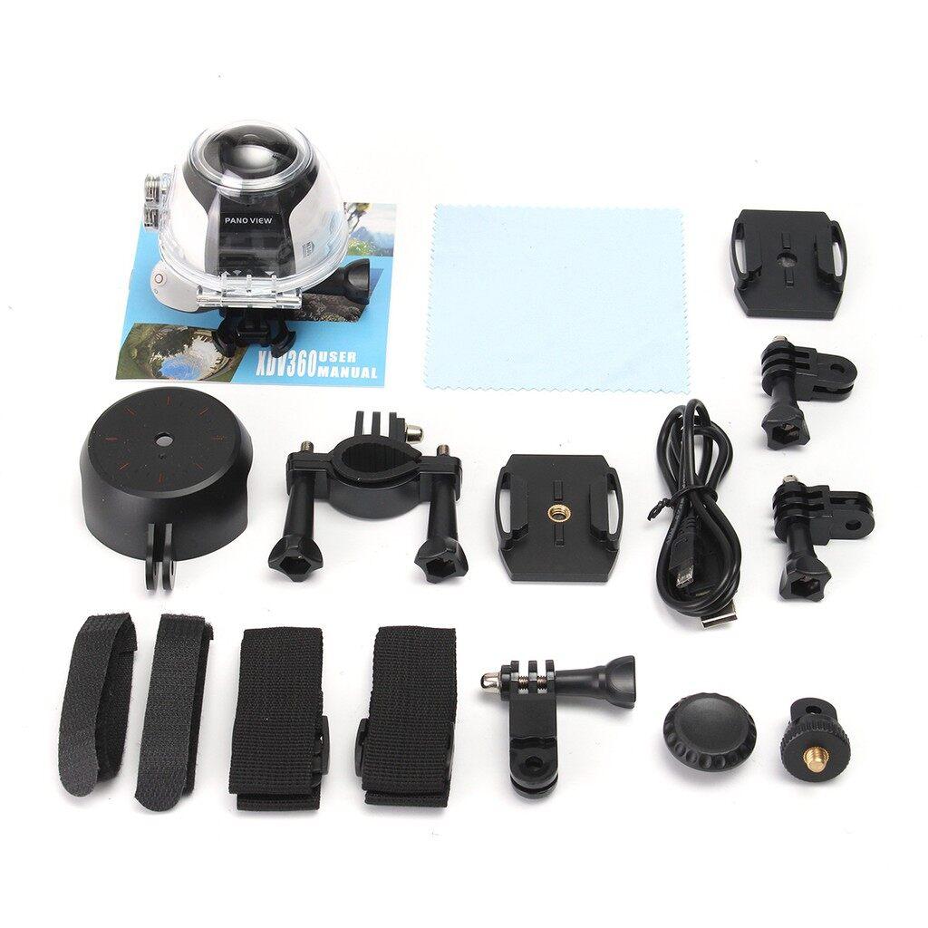 Sports & Action Cameras - 360 VR Panoramic Camera Video 4K ULTRA HD 0.96'' Waterproof WiFi Digital - Drones