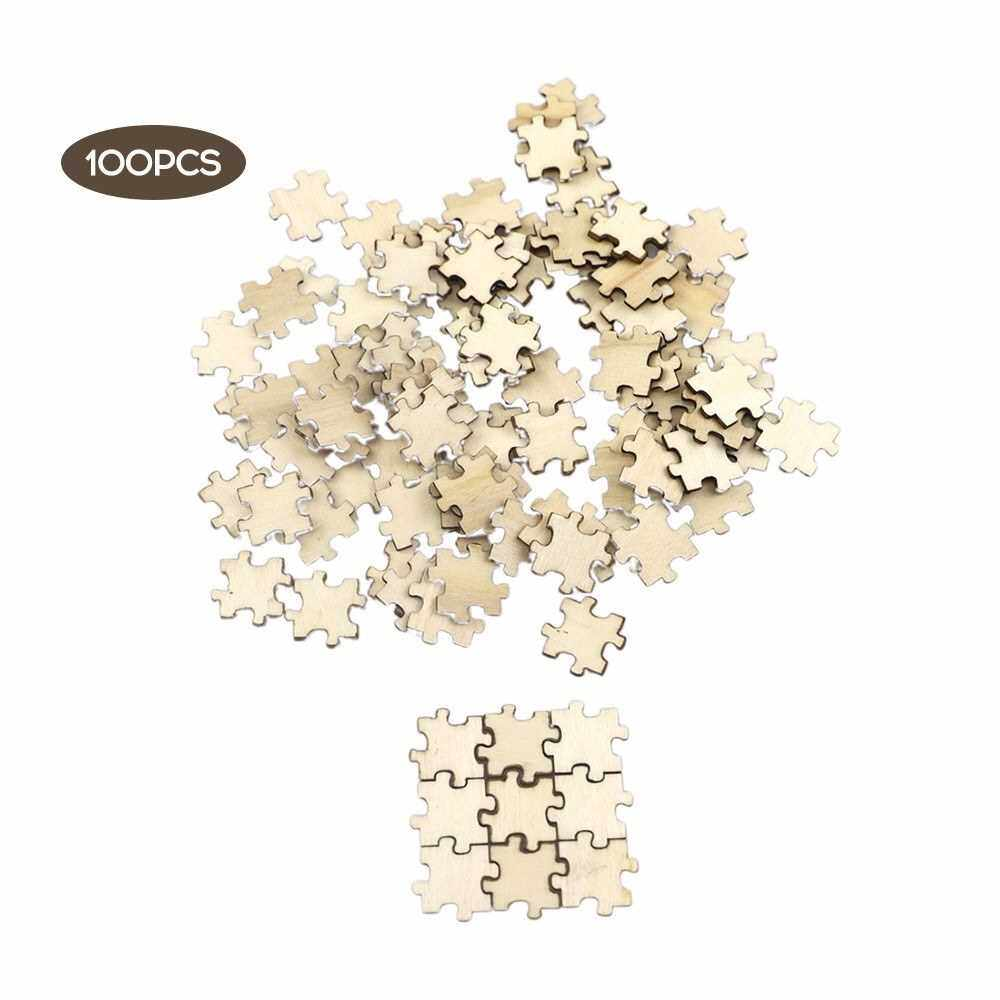Best Selling 100Pcs Wood Slices 20mm Assorted Wood Logs Handmade Accessories Kids DIY Collage Materials (Standard)