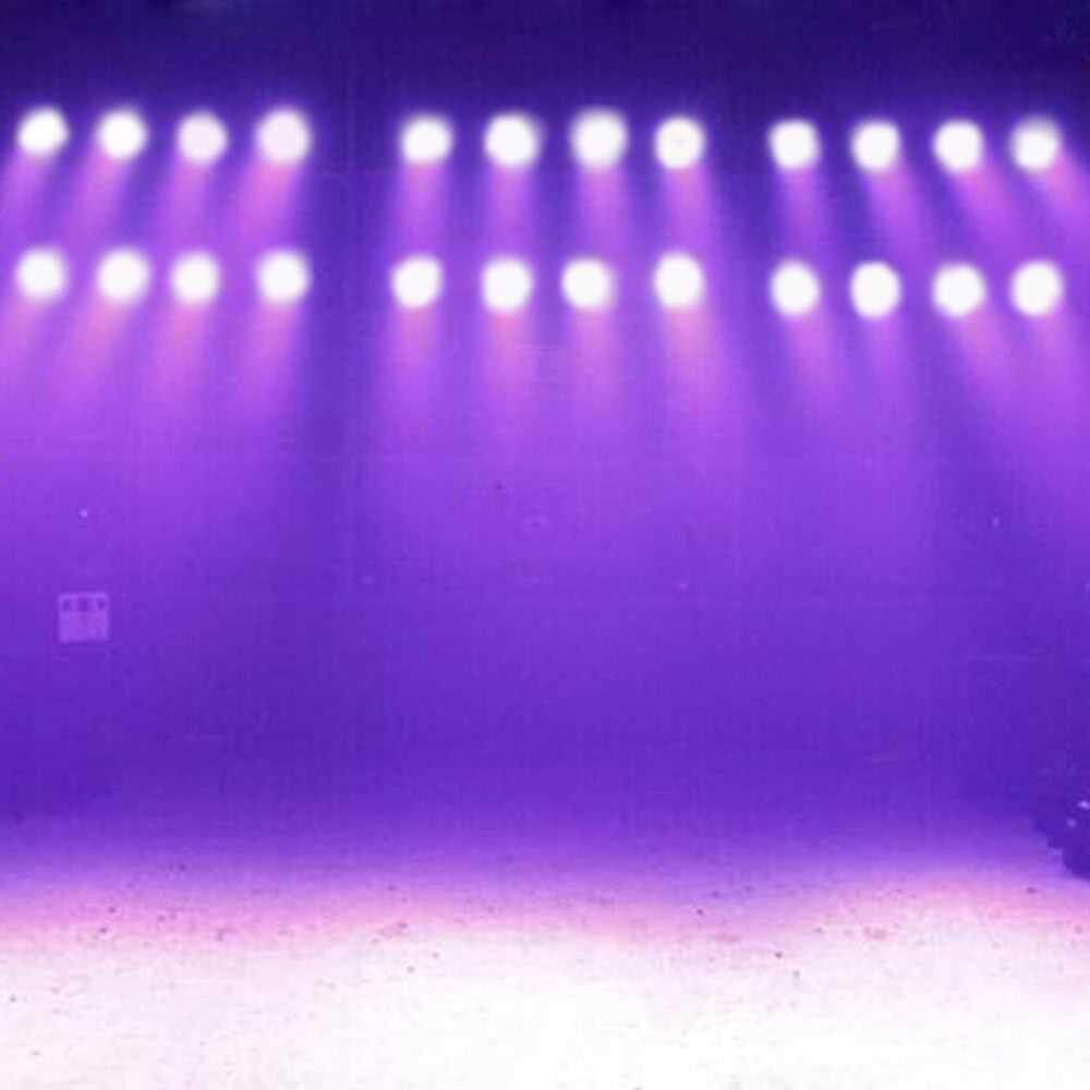 Mini 4 LEDs 50W RGBW Wash Rotating Moving Head Stage Effect Light 9/15 Channel DMX512 Sound-activated with Remote Control Indoor Disco KTV Club Party