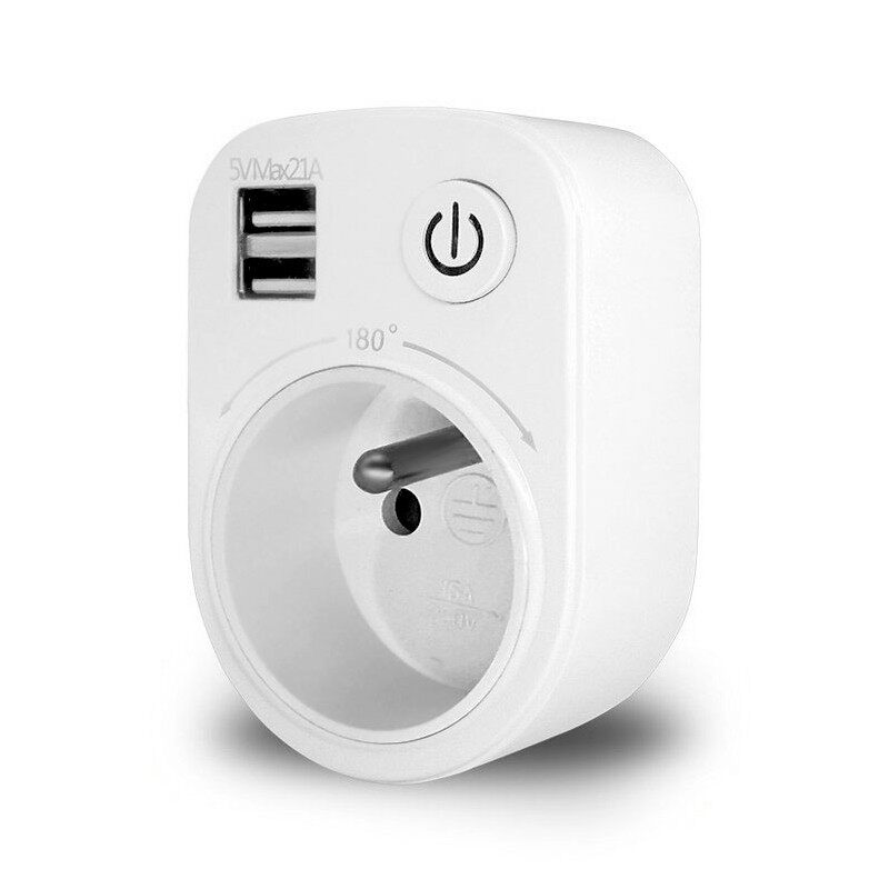 Chargers - Loskii SH-50 5V Socket Switch Indoor Smart 2 USB Ports - Cables