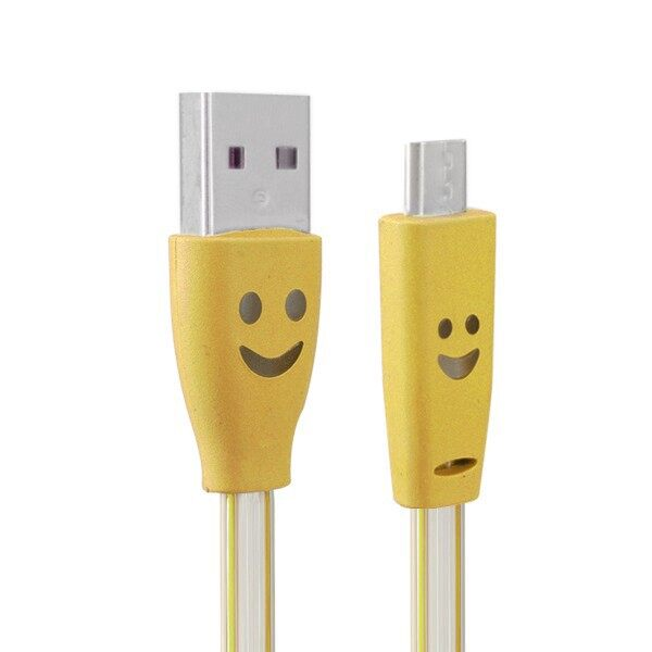 Mobile Cable & Chargers - 1.0M USB 2.0 to Micro USB LED Charging Data Line - YELLOW / GREEN / RED / WHITE
