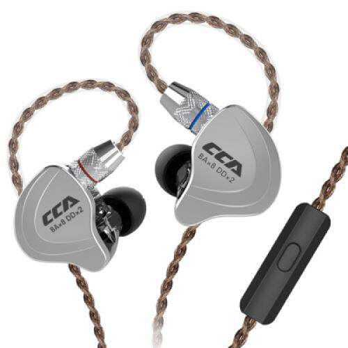 CCA C10 4BA+1DD Hybrid In-ear Earphone HiFi Sports Earbuds with Detachable Upgraded Cable (BLACK)