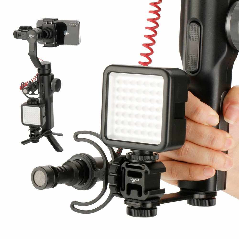 Portable Camera Light Holder Night Photograph Accessory Triple Hot Shoe Mount Cameras Lamp Bracket (Standard)
