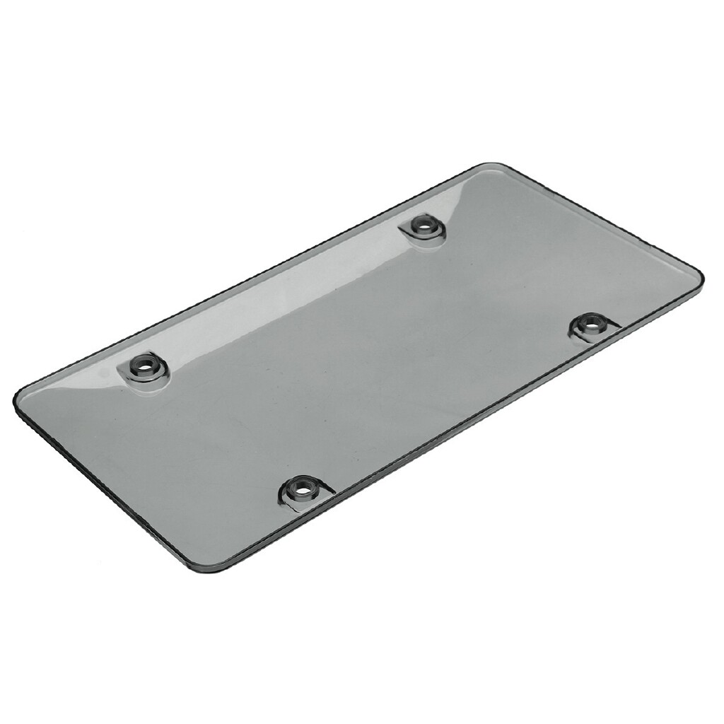 Exterior Car Care - 2x Clear Universal Car Autos Truck Tinted License Plate Tag Frame Cover Kit