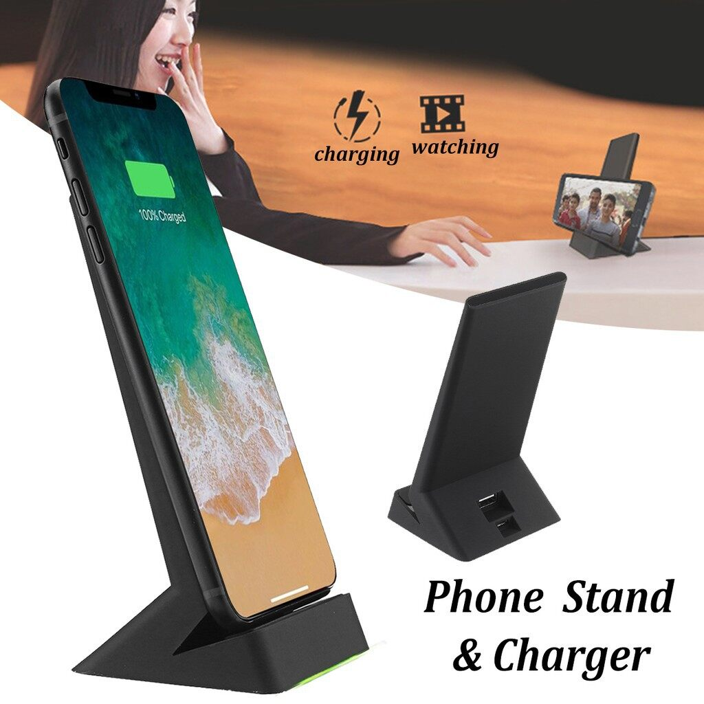 WIRELESS Chargers - QI Fast WIRELESS Charging Phone Charger black and white - WHITE / BLACK