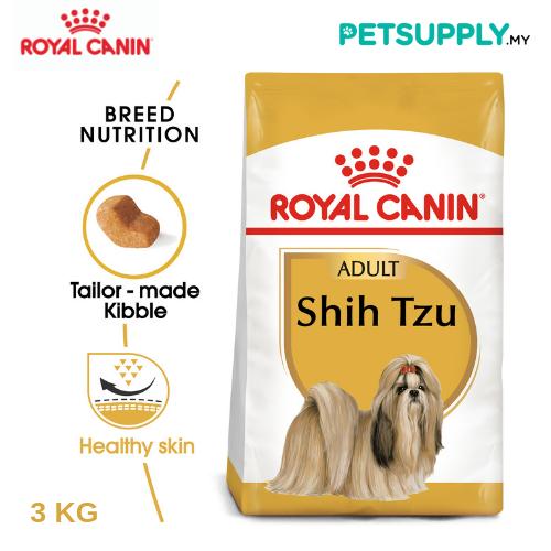 Royal Canin Dry Dog Food Shih Tzu Adult 3KG [makanan anjing - PETSUPPLY.MY]