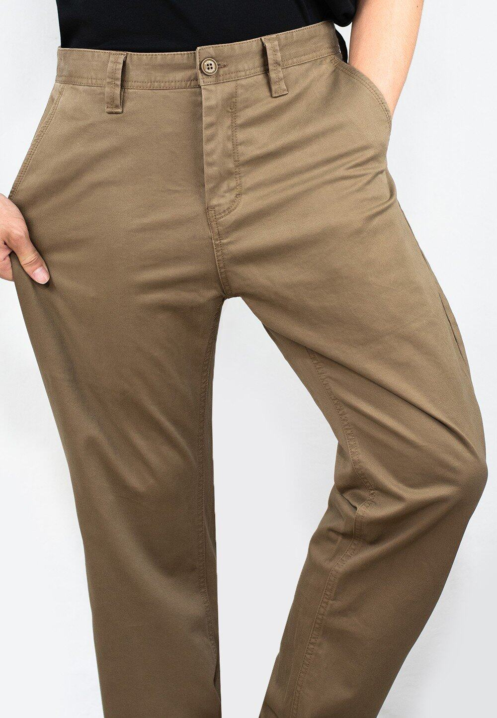 Stretchable Straight Cut Chino Long Pants 713