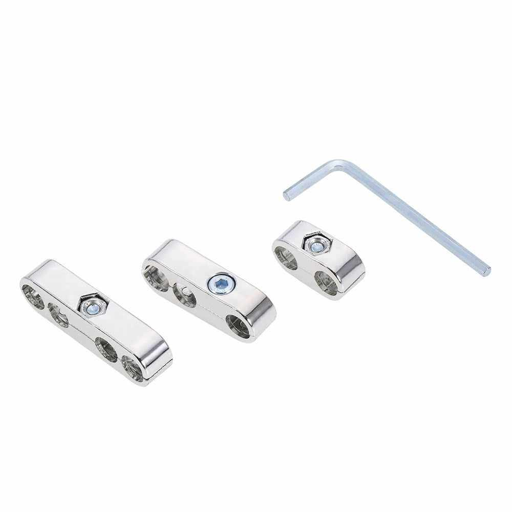 7mm 8mm Spark Plug Wire Separators Dividers Looms for Chevy for Ford & Mopar (Silver)