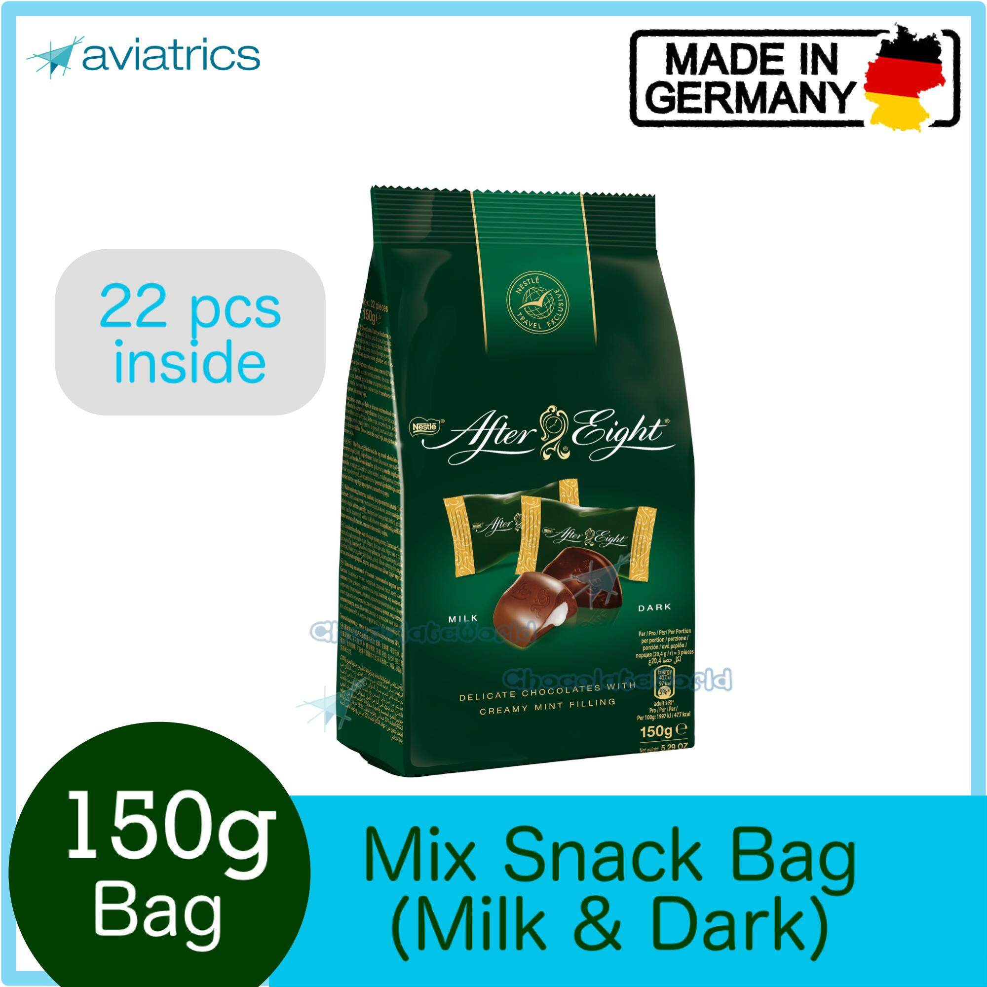 Nestle After Eight Mix Dark & Milk Chocolate Mint 150g (Made in Germany)