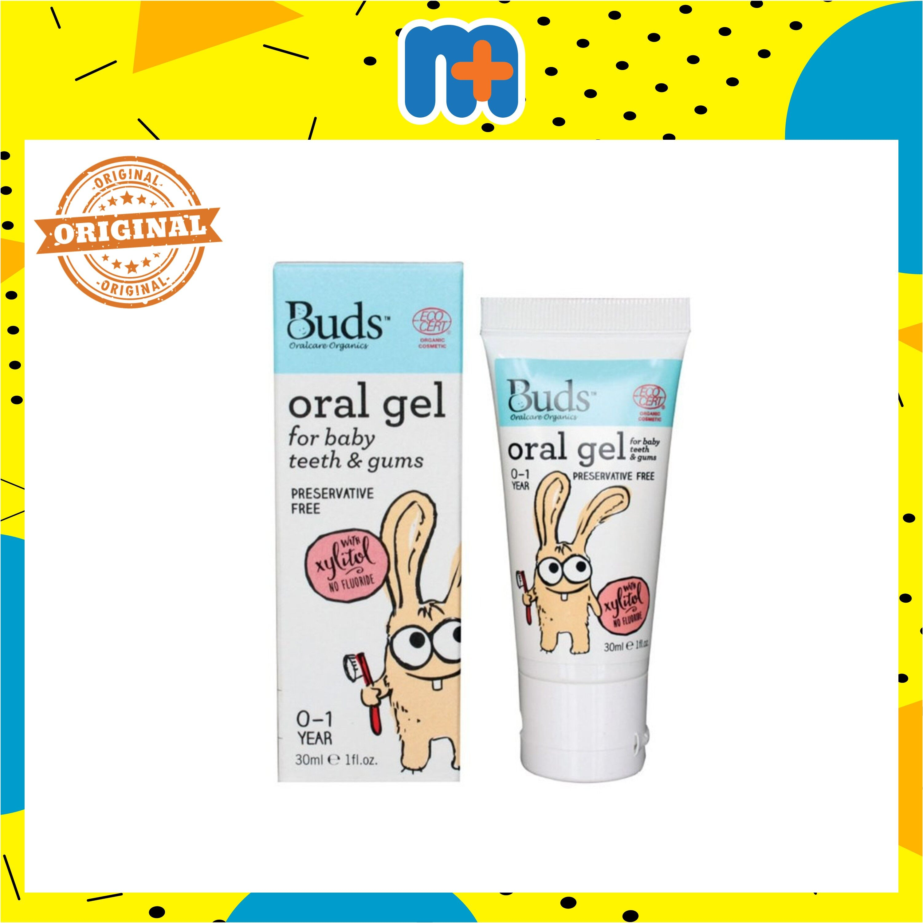 [MPLUS] BUDS ORAL GEL FOR BABY WITH XYLITOL 30G