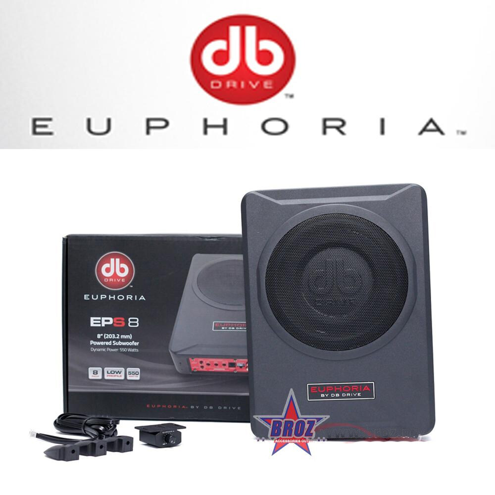 Broz DB DRIVE EUPHORIA EPS 8 8  COMPACT UNDERSEAT POWERED ACTIVE SUBWOOFER