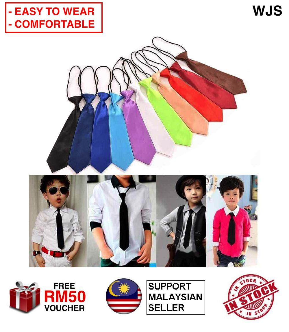 (WITH ELASTIC STRAP) WJS Baby Toddler Kid Children Girl Boy Elastic Kids Necktie Neck Tie Necktie Tali Leher Kanak Kanak MULTICOLOR [FREE RM 50 VOUCHER]
