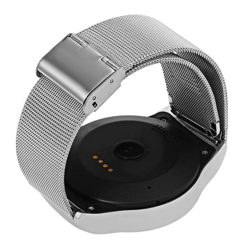 SMA - R HEART RATE MONITOR SMART WATCH DUAL BLUETOOTH WRISTBAND (SILVER, STEEL BAND/ LEATHER BAND)