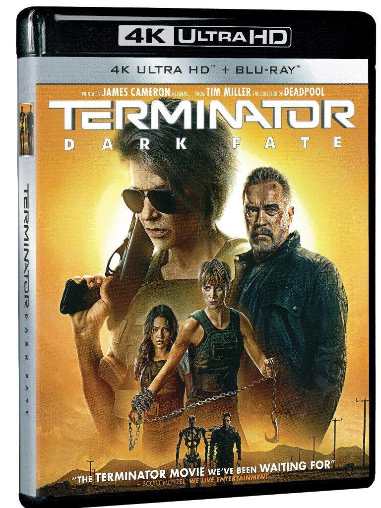 English Movie Terminator : Dark Fate 4K Ultra HD + Blu-ray Arnold Schwarzenegger / Linda Hamilton