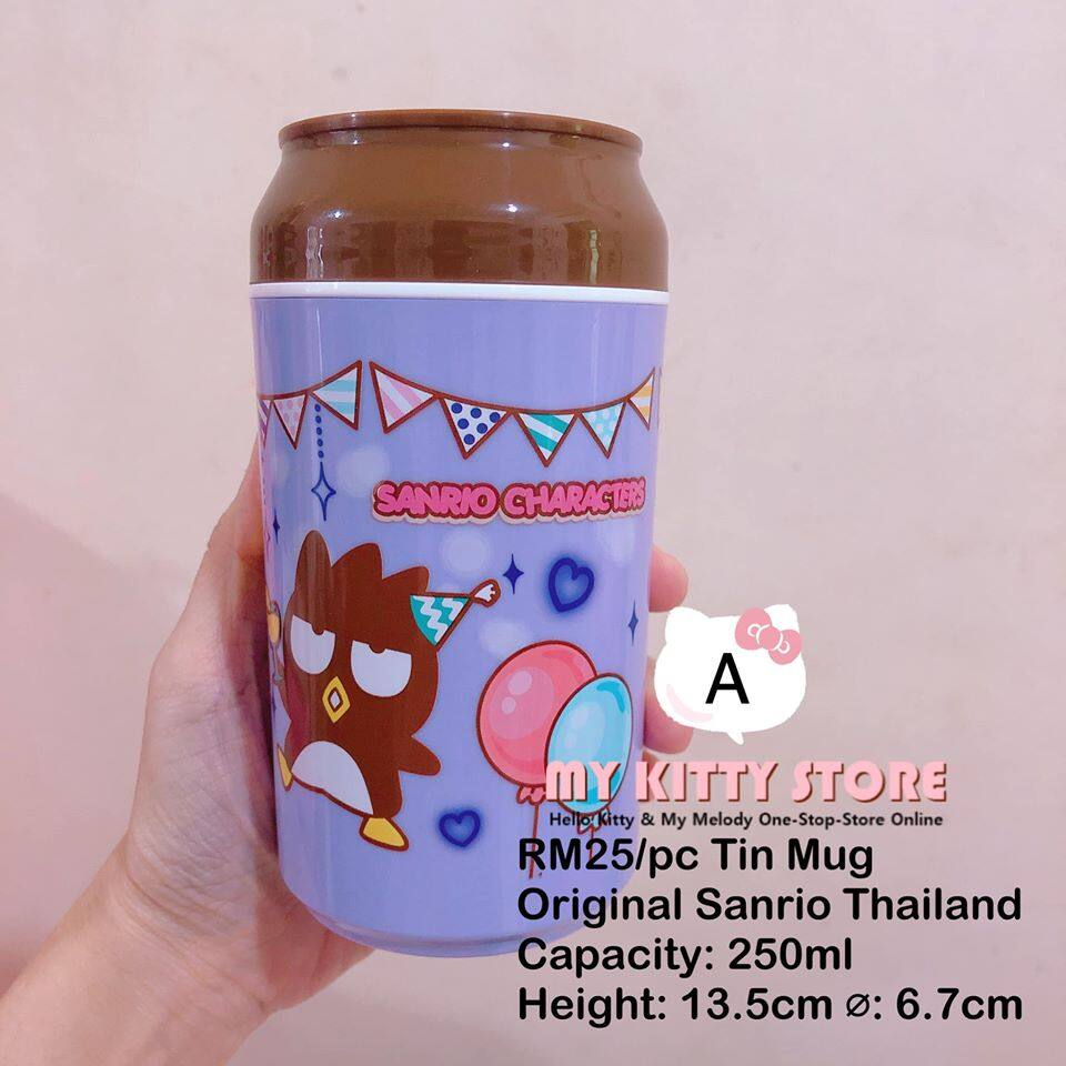 Sanrio Characters Tin Can Design Cup