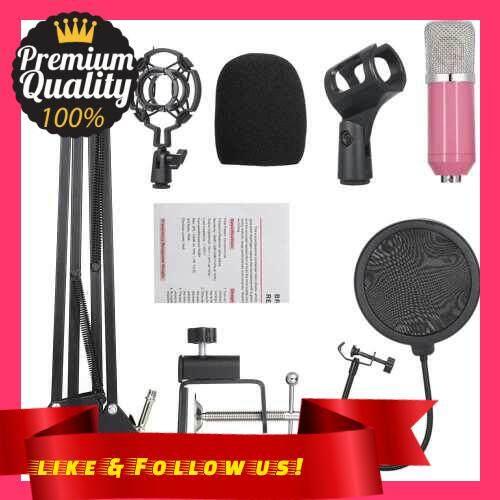 People\'s Choice Professional BM700 Condenser Microphone Mic KTV Singing Studio Recording Kit Pink (Pink)