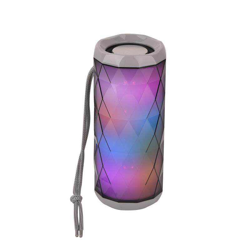 TG-167 TG167 BLUETOOTH PORTABLE WIRELESS SPEAKER WITH LED FLASHIG LIGHT (Fresh Import) High Quality GREY