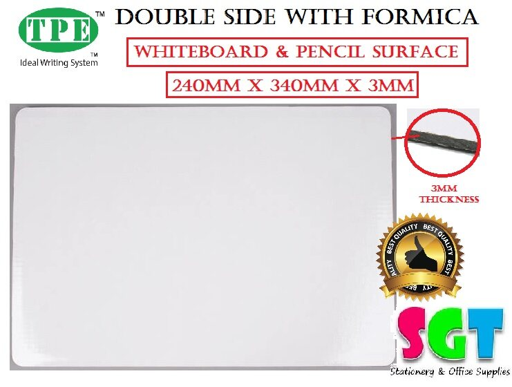 TPE A4+ Double Side With Formica Board (White Board & Pencil Surface)