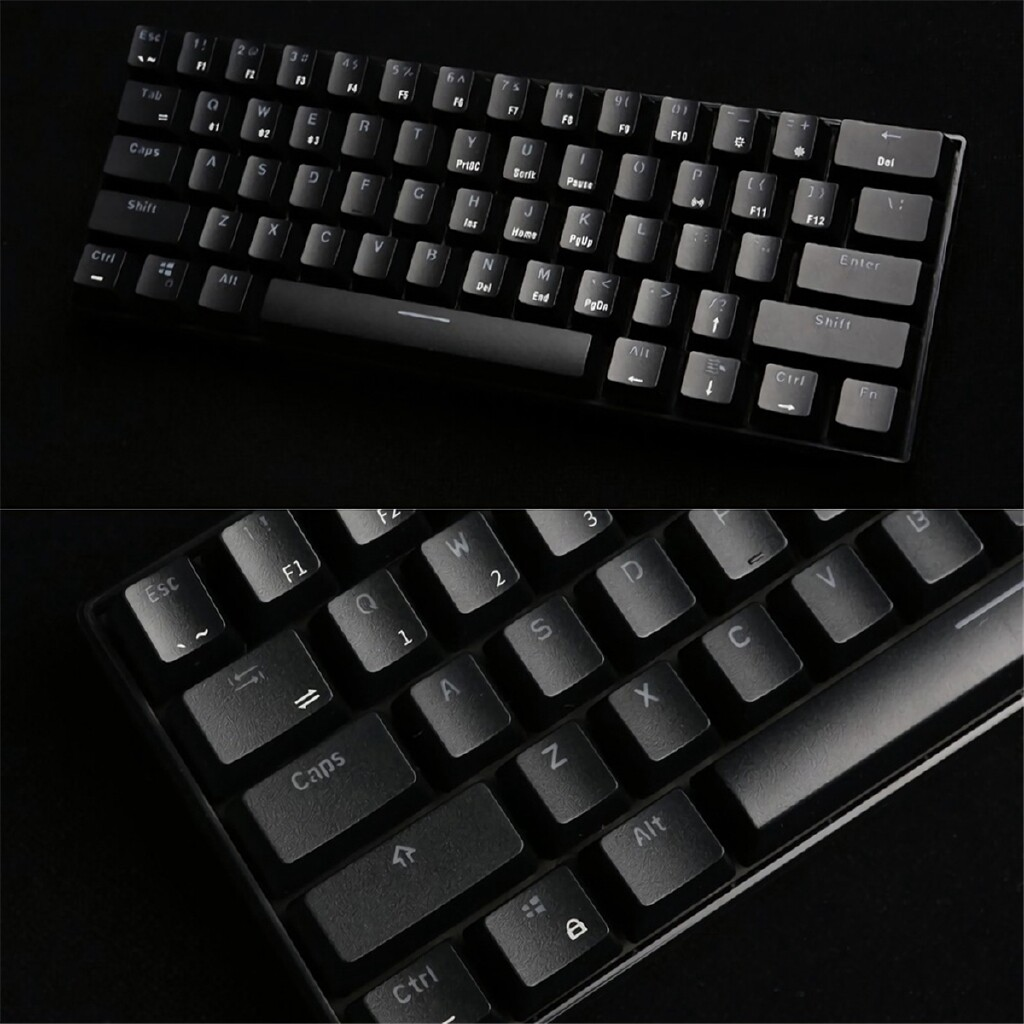 Keyboards - Kludge RK61 BLUETOOTH Wired Dual RGB Mechanical Mode 60% Gaming Keyboard - BLACK-RED SWITCH / WHITE-BROWN SWTICH / BLACK-BROWN SWITCH / WHITE-BLUE SWITCH / BLACK-BLUE SWITCH / WHITE-RED SWITCH / BLACK-BROWN SWTICH / WHITE-BROWN SWITCH