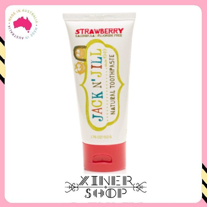 [Pre Order] Jack N Jill Kids Toothpaste Organic Strawberry Flavour ( 50g )(Made in Australia)