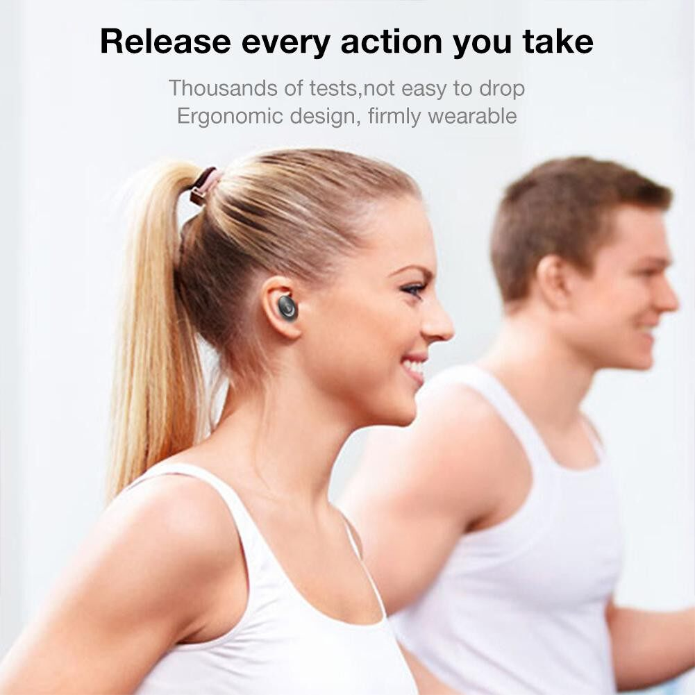L15 MINI In-Ear BLUETOOTH 5.0 Earphone HiFi Sports WIRELESS Head SET with Mic Handsfree - BLACK / WHITE / BLUE / RED / PINK