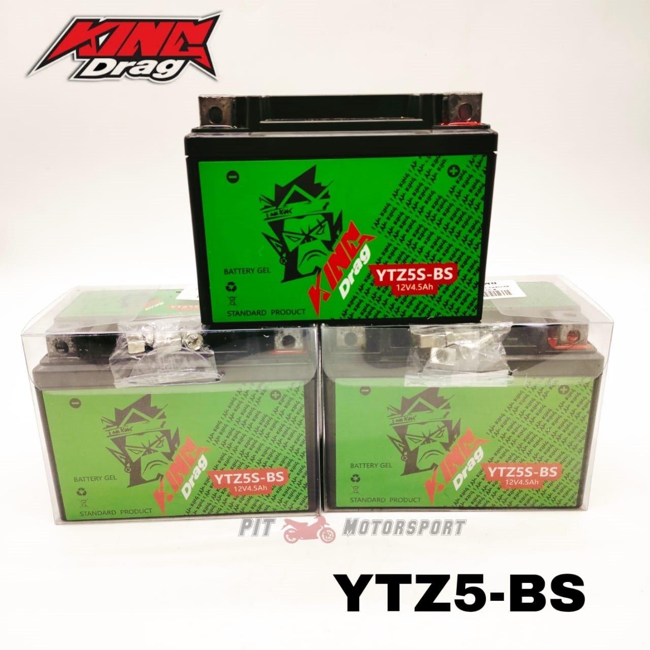 YTZ5S YTZ5-BS Kingdrag Gel Battery Bateri Dream Fi Beat Blade Dash Solaris Y15ZR Avantiz LC135 FZ150 Lagenda Karisma / Motor Spare Parts