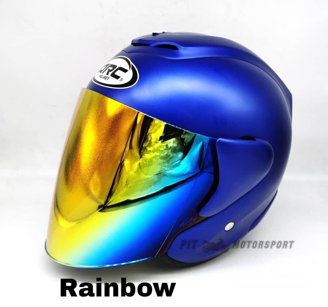 MATT BLUE Helmet ARC RITZ Size L / XXL Add On Visor Clear / Smoke / Gold / Red / Blue / Rainbow Y16ZR MT15 R15 R25 MT25