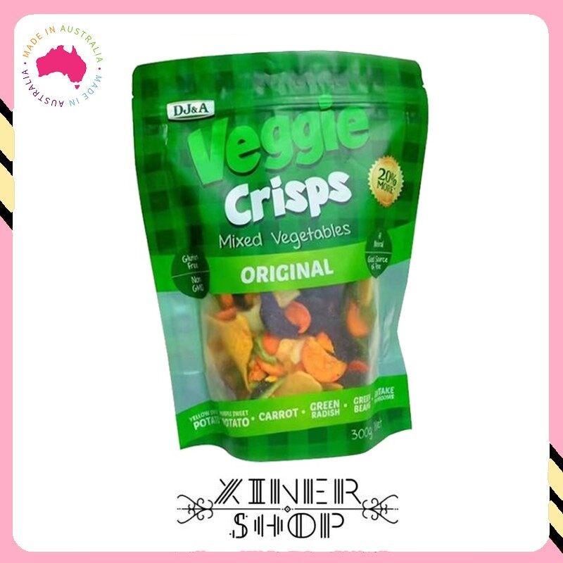 [Pre Order] DJ&A Veggie Crisps healthy snacks vegetable chips ( 300g ) (Import from Australia)