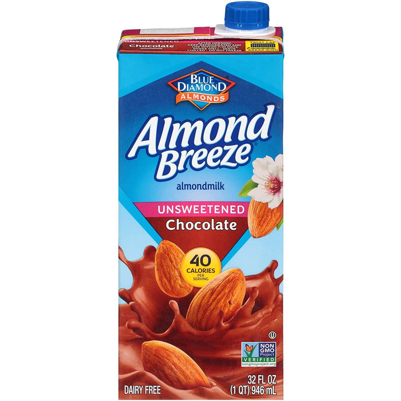 MILK Blue Diamond Almond Breeze Almond Milk Chocolate Unsweetened (946ml) EURO SNACKS