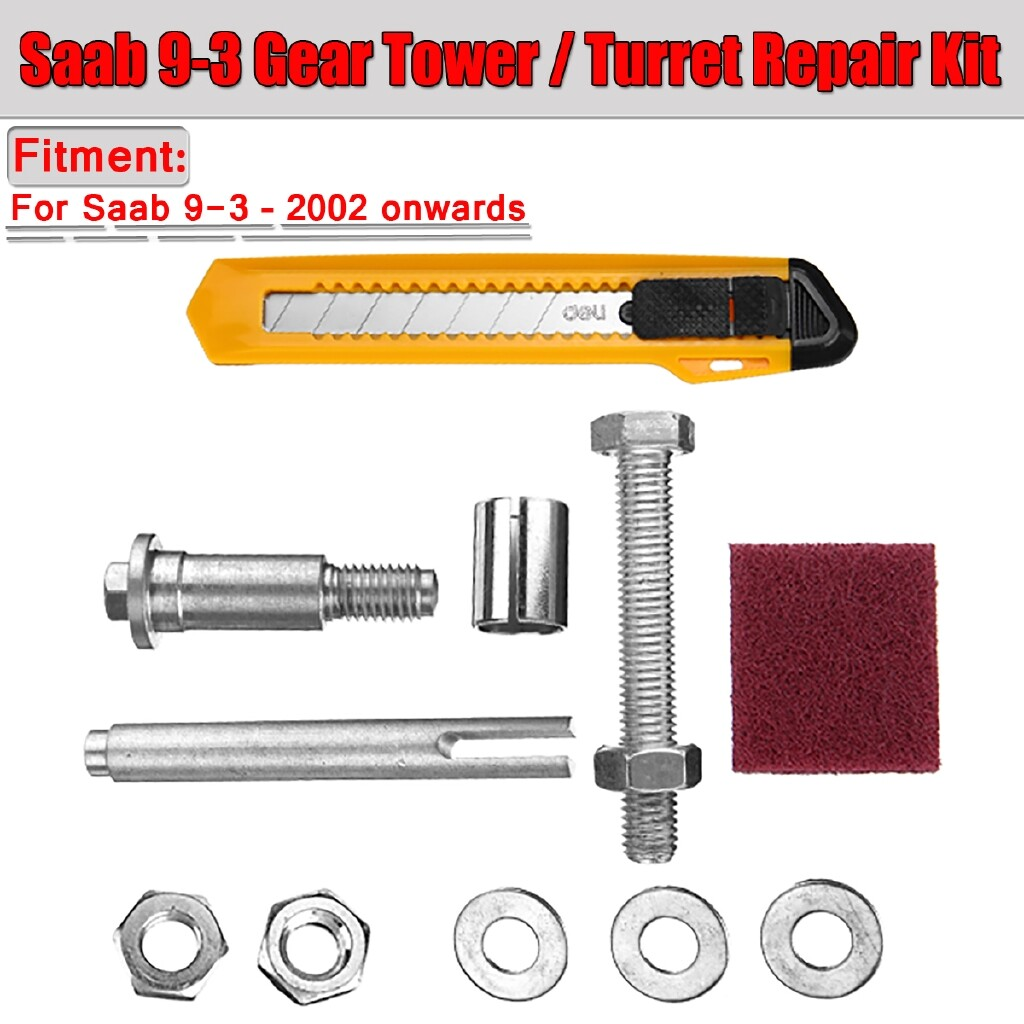 Automotive Tools & Equipment - For Saab 9-3 Sport Stiff Gear Turret Repair Fix Kit 55556311 6 Speed Gearbox - Car Replacement Parts