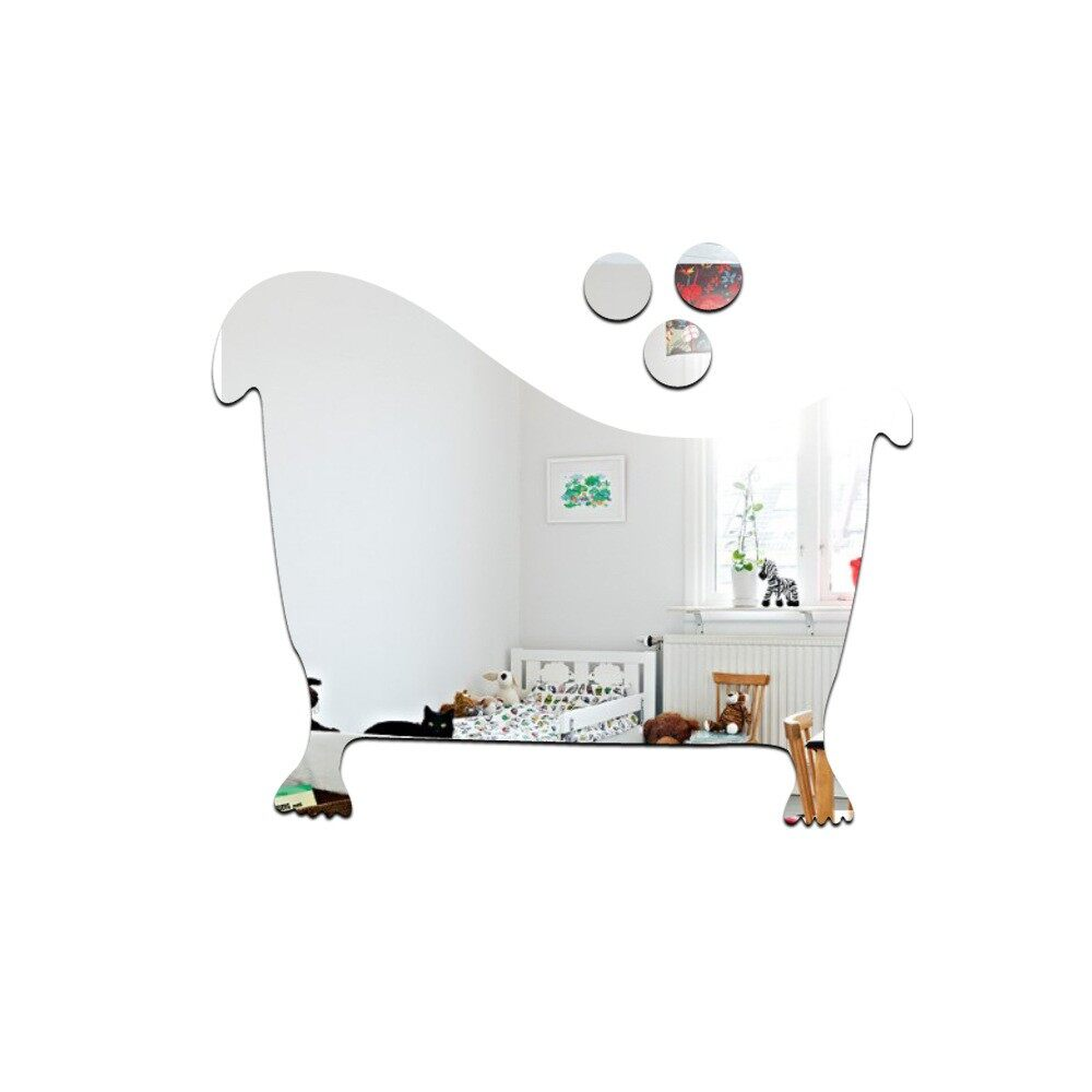 Mirrors & Wall Art - Convenient 3D Toilet WC Man and Woman Mirror Wall Sticker DIY PET Stickers - GOLD-URGENT / GOLD-WC / GOLD-BATHTUD / SLIVER-URGENT / SLIVER-WC / SLIVER-BATHTUD / BLACK-URGENT / BLACK-WC / BLACK-BATHTUD / RED-URGENT / RED-WC / RED-