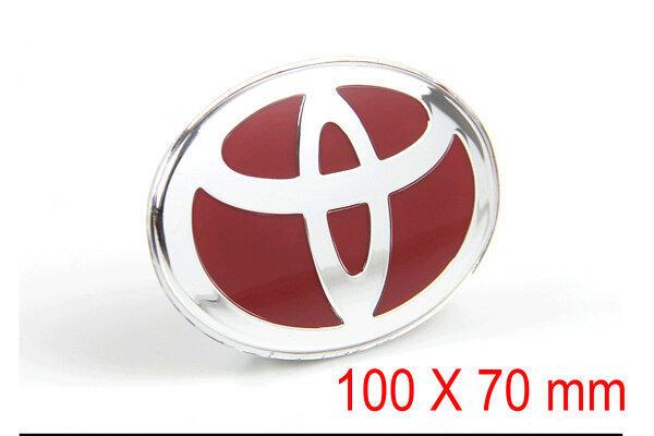 Xe 3D Stereo Nhãn Dán Nhãn Dán, Nhãn Dán Xe Cốp Xe Cá Tính Miếng Dán Vô Lăng Logo Sửa Đổi Huy Hiệu Đính Chữ Trang Trí 100X70 Mm Cho Toyota (Màu Đỏ)