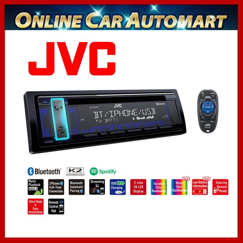 JVC KD-T901BT 1-DIN CD Receiver with Bluetooth(R) Wireless Technology and Front USB/AUX Input