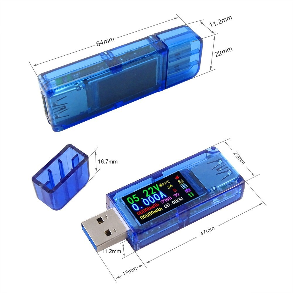 OTG USB - RUIDENG AT34 USB3.0 IPS HD Color Screen USB Tester Voltage Current Capacity - Storage & Hard Drives