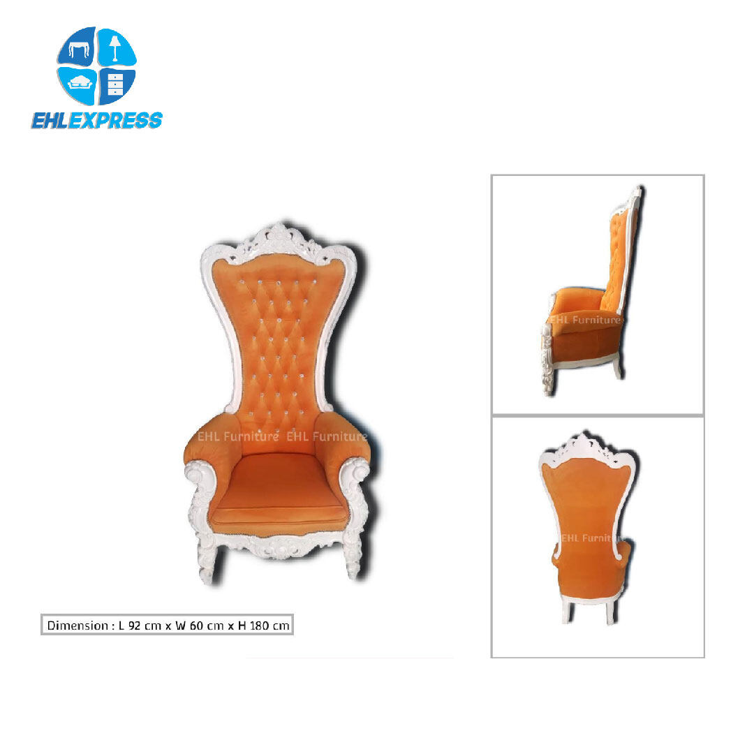 EHL EXPRESS JATI / TEAK WOOD Lazarus King Throne Chair - FREE INSTALLATION / DELIVERY TO PENINSULAR