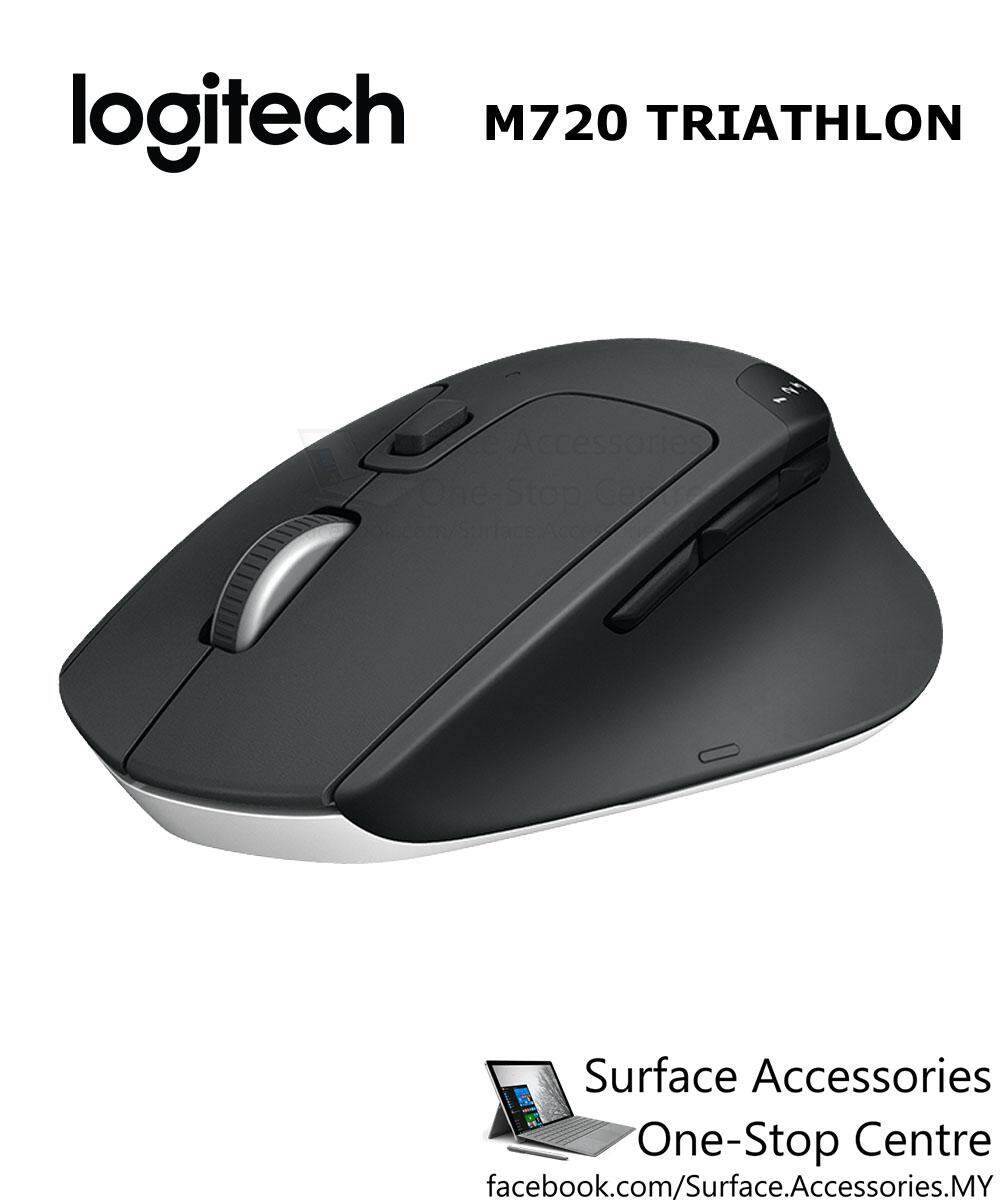 [MALAYSIA]Logitech M720 Triathalon Wireless Mouse Multi Device Mouse Windows Apple Mac iPadOS iOS Android Linux Computers Paired with Bluetooth or USB, Hyper-Fast Scrolling, Black Unifying Receiver Programmable Buttons Macro Keys