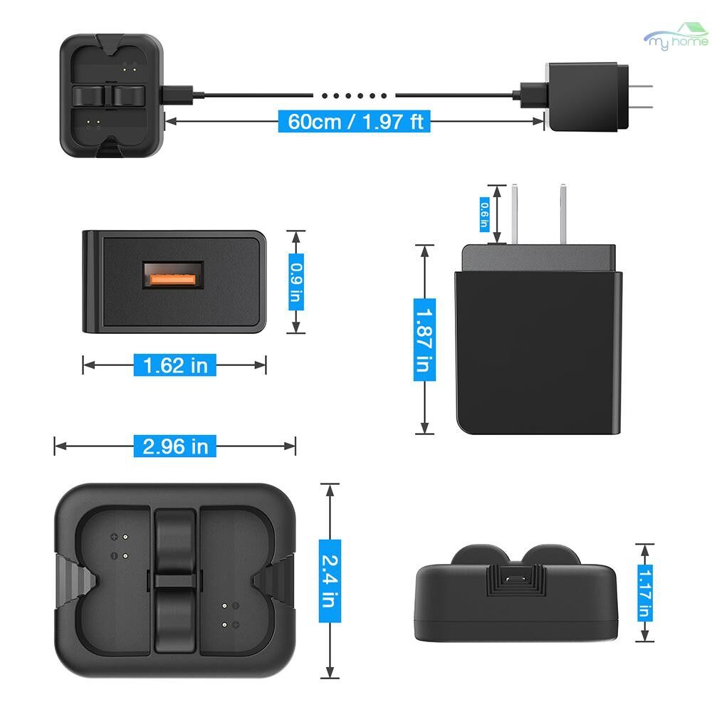 Monitors - Charging Station Doorbell Charger Double Plug Charger with Power Adapter for Ring Video Doorbell - Computer Accessories